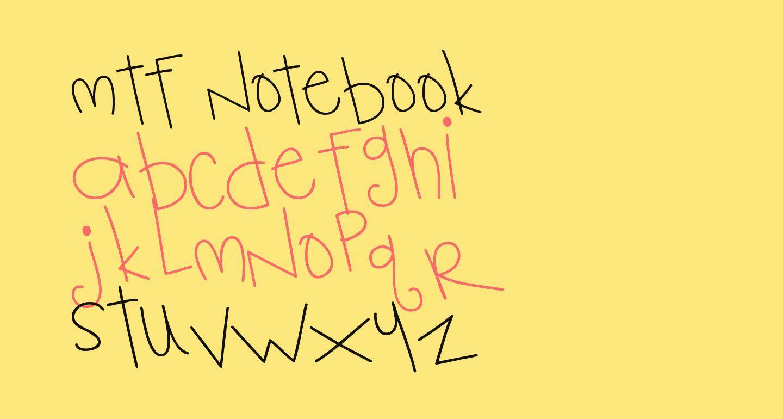 MTF Notebook