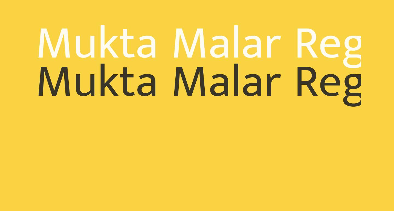 Mukta Malar Regular