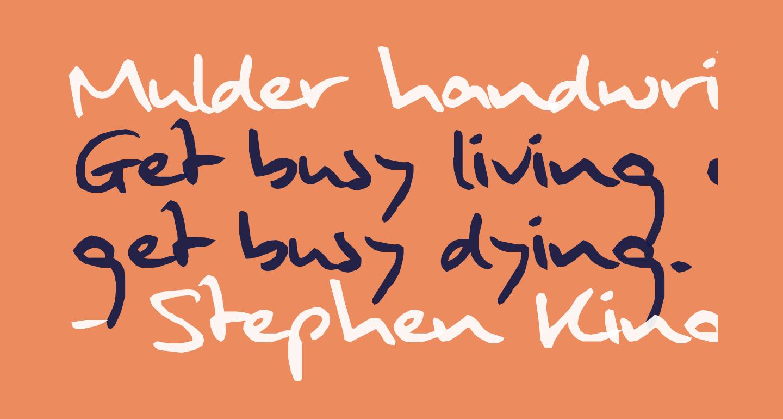 Mulder handwriting