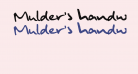 Mulder's handwriting