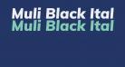 Muli Black Italic