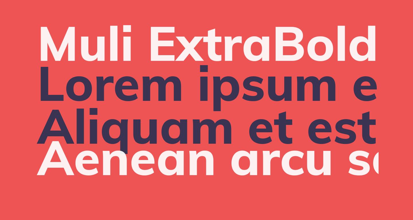 Muli ExtraBold