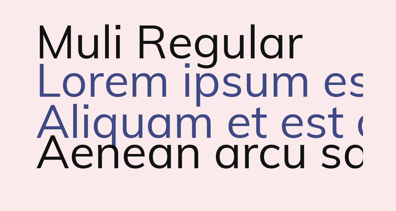 Muli Regular