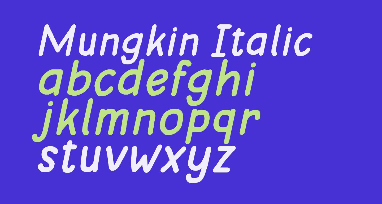 Mungkin Italic