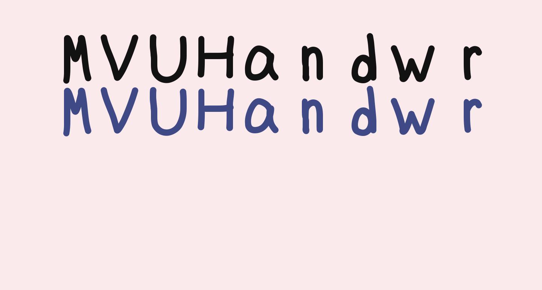 MVUHandwriting