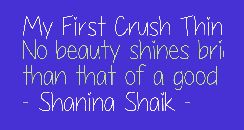 My First Crush Thin