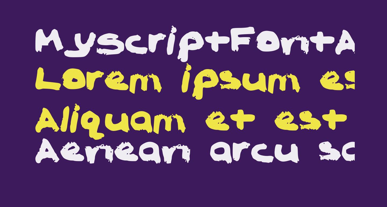 MyScriptFontAdrione