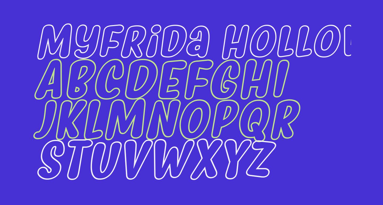 Myfrida Hollow Italic