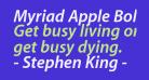 Myriad Apple BoldItalic