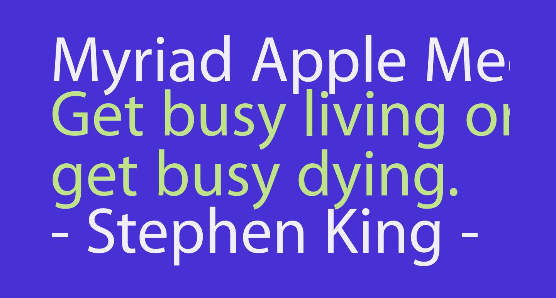 Myriad Apple Medium