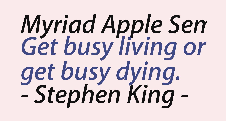 Myriad Apple SemiboldItalic