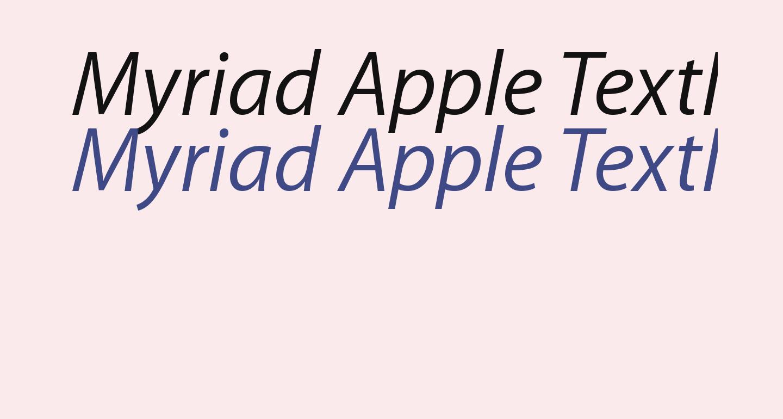 Myriad Apple TextItalic