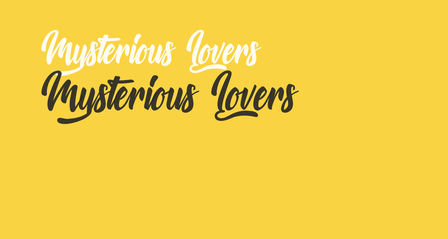 Mysterious Lovers