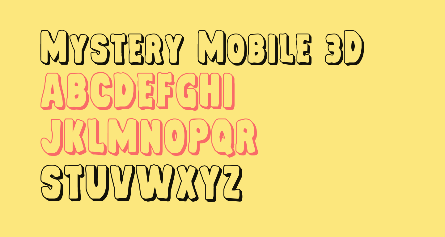 Mystery Mobile 3D