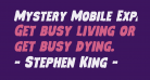 Mystery Mobile Expanded Italic