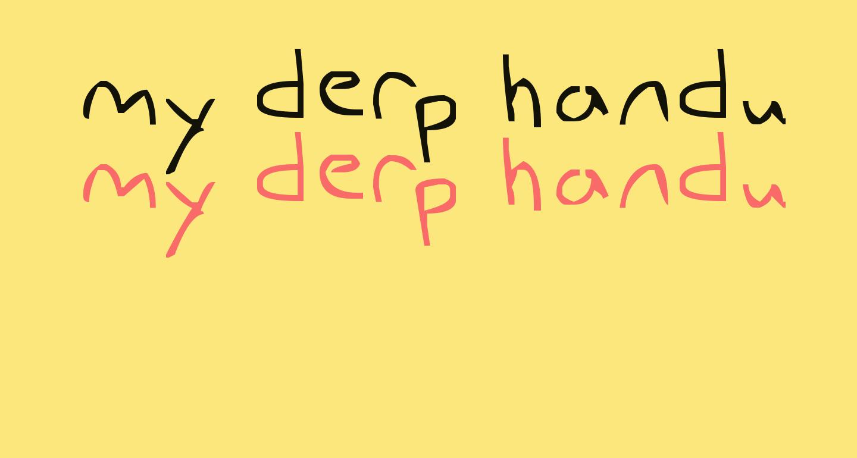 my derp handwriting