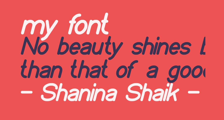 my font