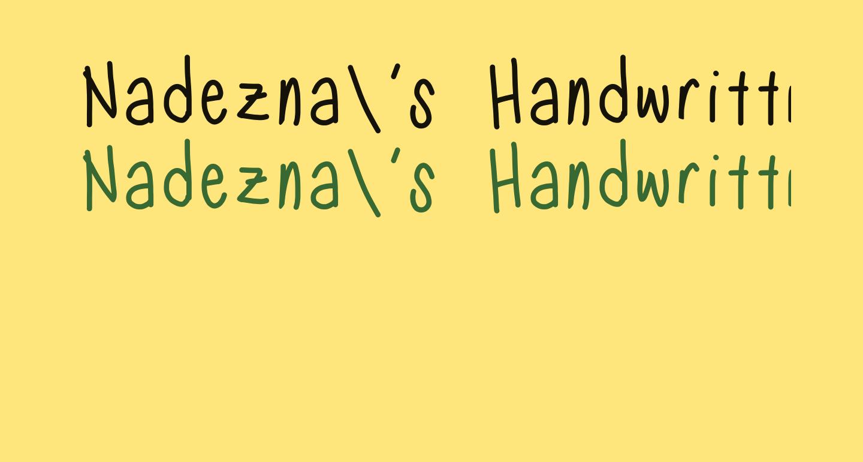 Nadezna's Handwritting