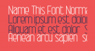 Name This Font Normal