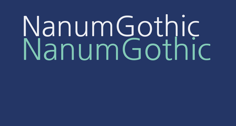 NanumGothic