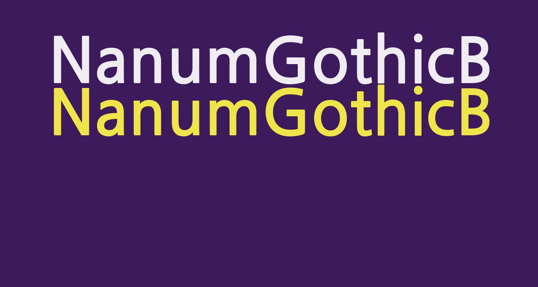 NanumGothicBold