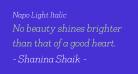 Napo Light Italic