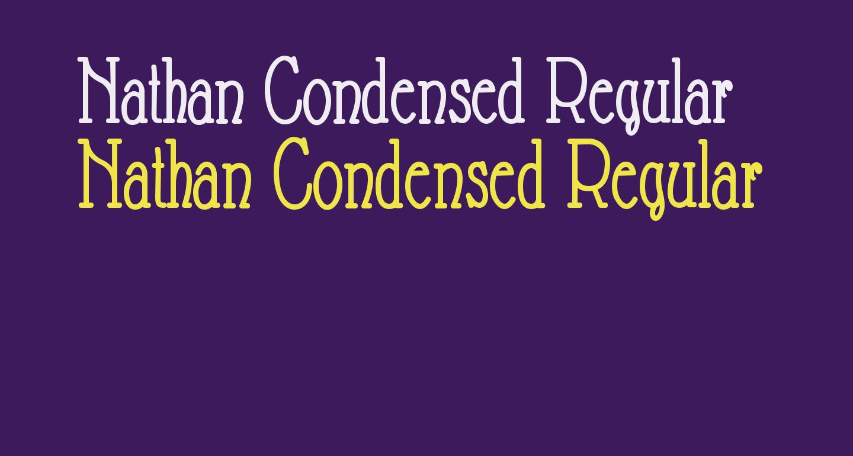 Nathan Condensed Regular