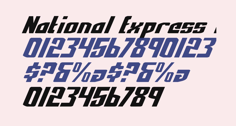 National Express Italic