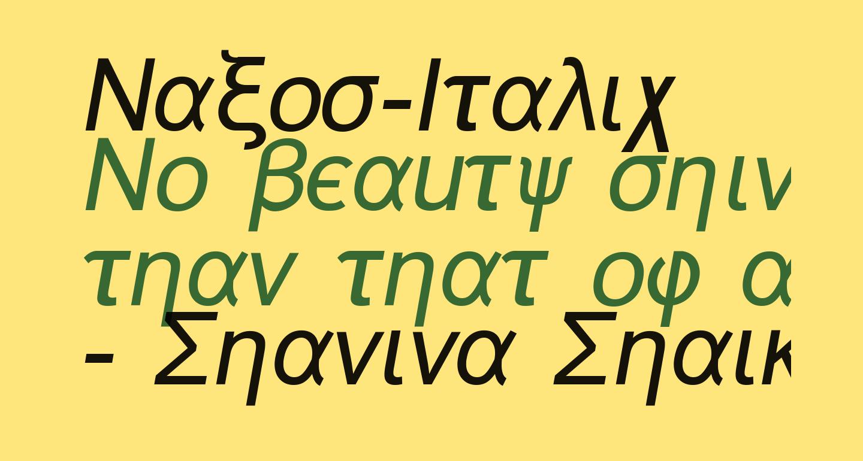 Naxos-Italic