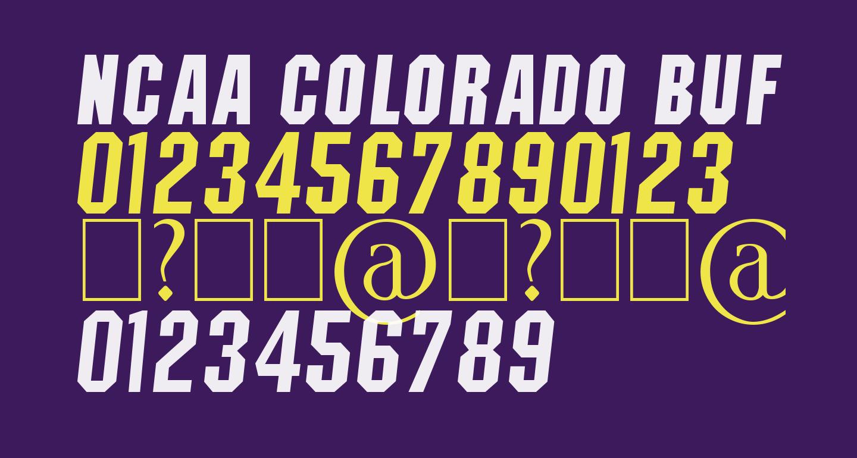 NCAA Colorado Buffs Boulder Bold