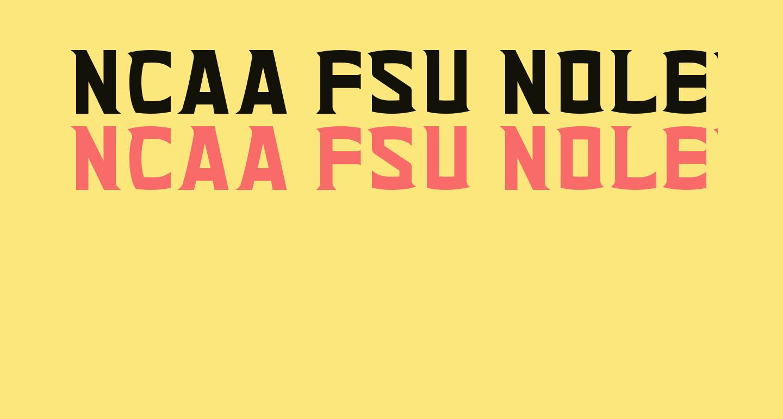 NCAA FSU Noles Glades Bold