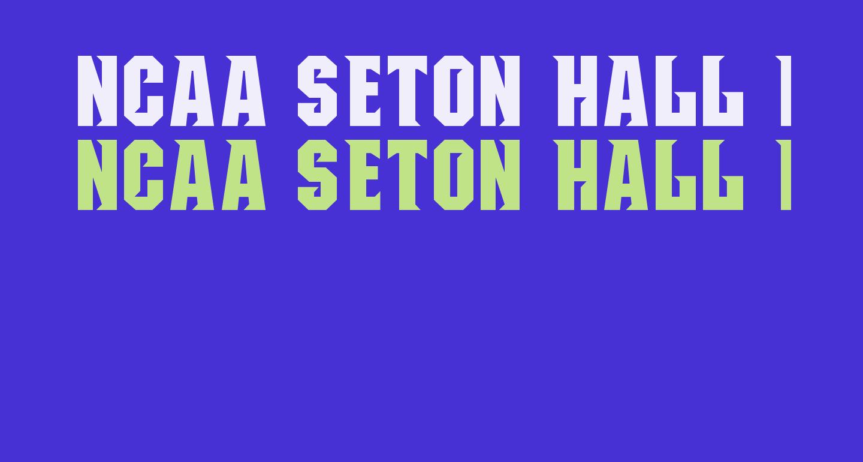 NCAA Seton Hall Pirates Bold