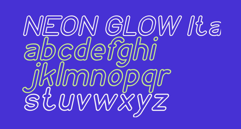 NEON GLOW Italic