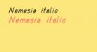 Nemesia italic