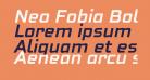 Neo Fobia Bold Italic