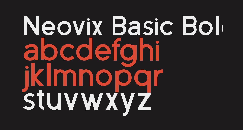 Neovix Basic Bold