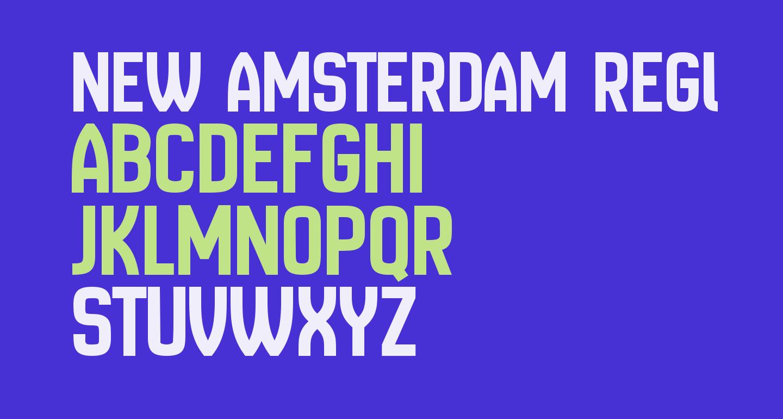 New Amsterdam Regular
