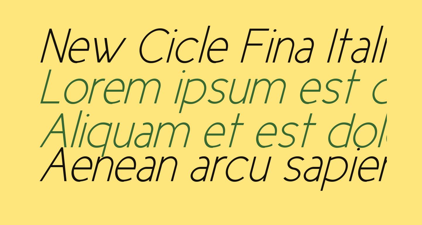 New Cicle Fina Italic