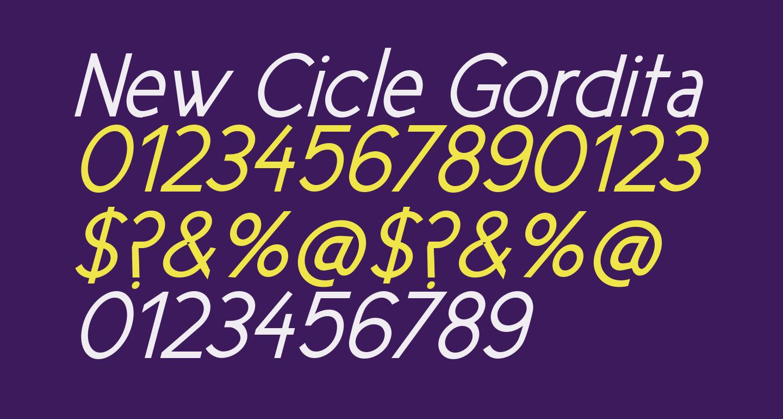 New Cicle Gordita Italic