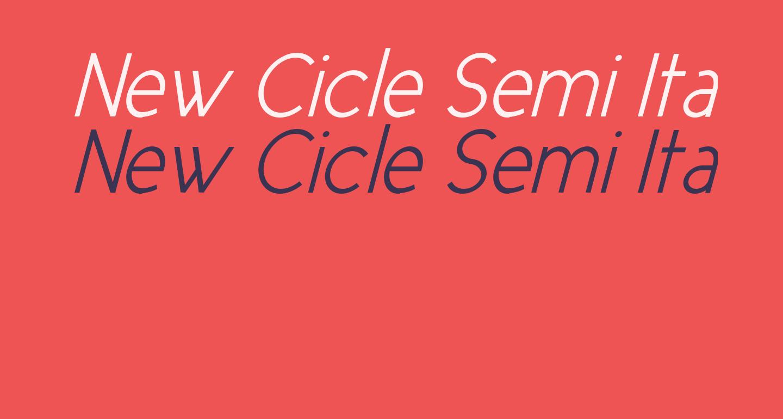 New Cicle Semi Italic