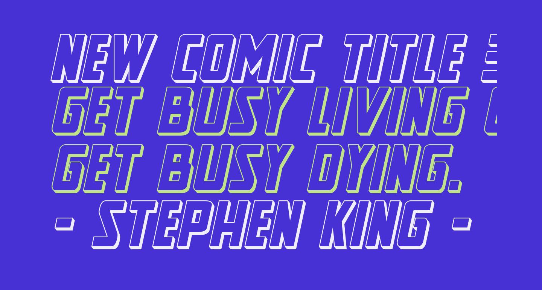 New Comic Title 3D Italic