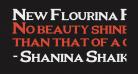 New Flourina Font for 2014