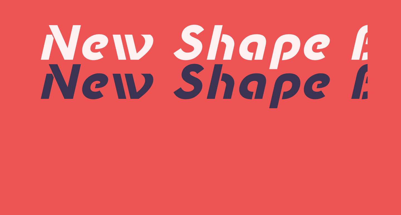 New Shape Bold Oblique