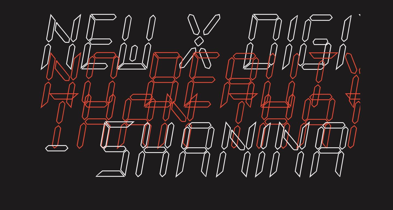 New X Digital tfb Hollow