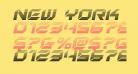 New York Escape Gradient Italic