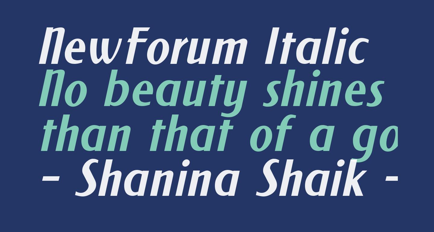 NewForum Italic