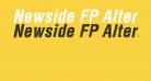 Newside FP Alternate Italic