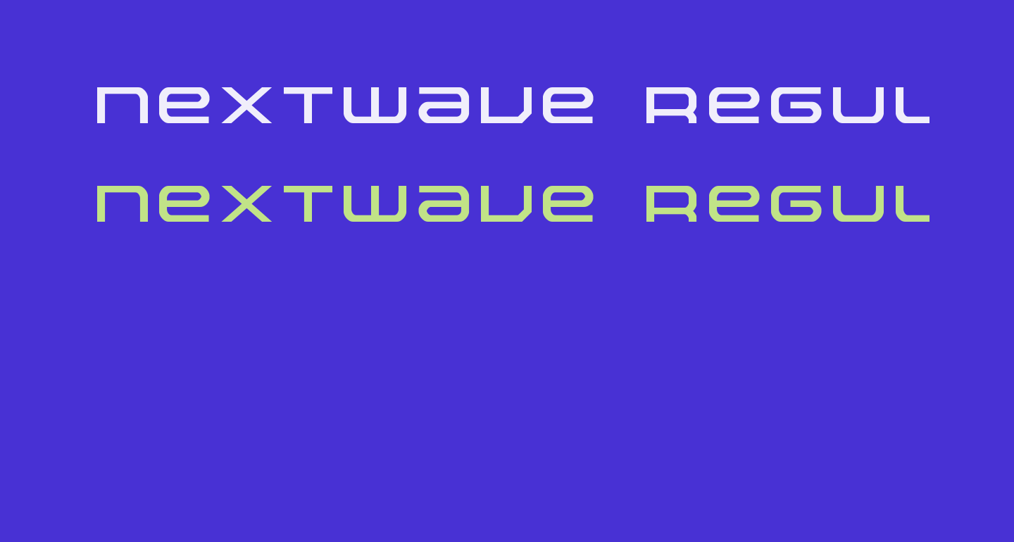 Nextwave Regular