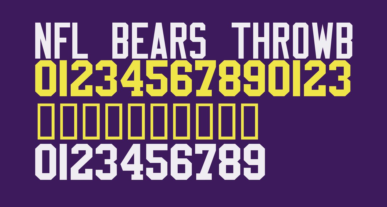NFL Bears Throwback
