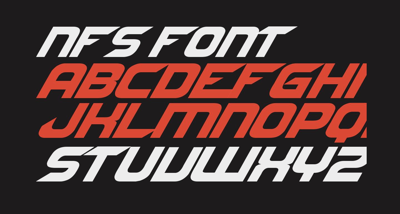 NFS font